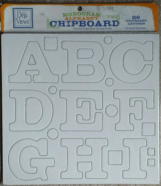 Deja Views Monogram Chipboard Alphabet