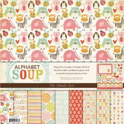 Alphabet Soup Girl My Mind's Eye Paper Kit