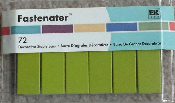 EK Success - Fastenater Decorative Staple Bars-Lime