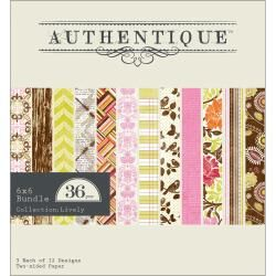 "Authentique Lively 6""x6"" Pad Cardstock"