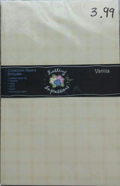 Lasting Impressions Embossing Papers-Vanilla Collection