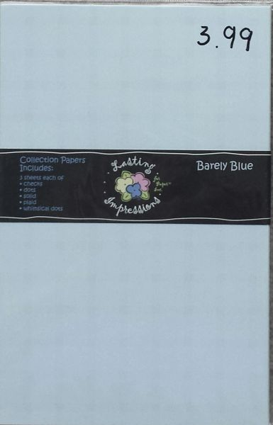 LASTING IMPRESSIONS EMBOSSING PAPERS-Barely Blue COLLECTION