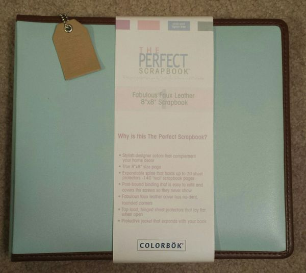 "Perfect Scrapbook Faux Leather Album 8""X8"" Newport Blue"