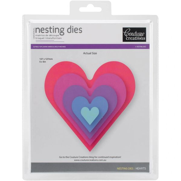Couture Creations Nesting Dies-Hearts