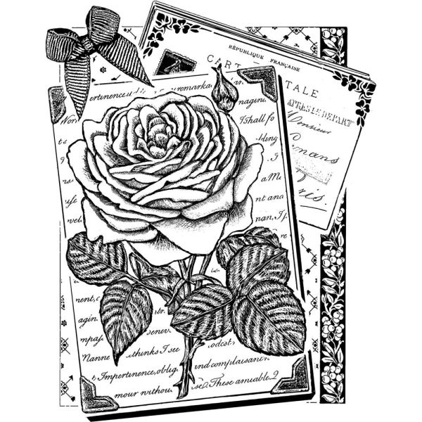 Crafty Individuals Unmounted Rubber Stamp -Rambling Rose