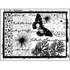 Crafty Individuals Unmounted Rubber Stamp - Parisian Butterfly