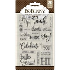 BoBunny Clear Stamps-Friendly Greetings