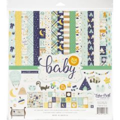 "Hello Baby Boy Echo Park Collection Kit 12""X 12"""