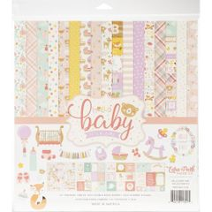 "Hello Baby Girl Echo Park Collection Kit 12""X 12"""