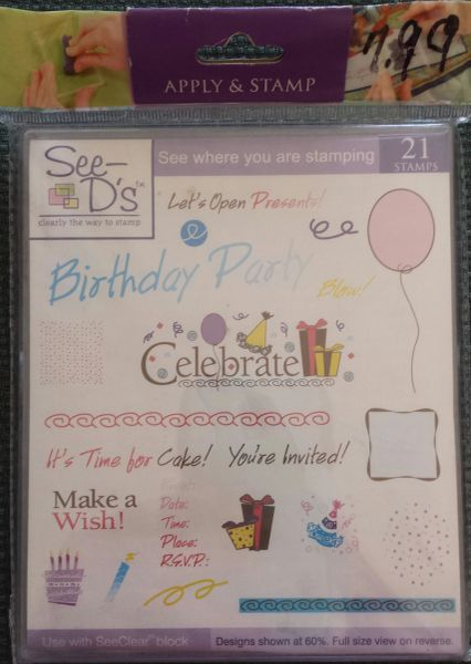 See D's-Birthday Bash Stamp Set