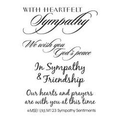 My Sentiments Exactly Clear Stamps-Sympathy Sentiments
