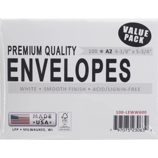 Leader A2 Envelopes 100/Pkg