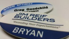 Full Color Plastic Name Badges