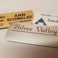 One Color Plastic Name Badges