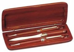 Rosewood Triple Pen Set