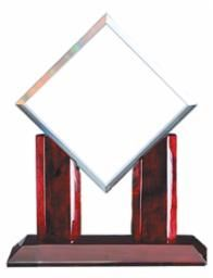 GL34 - ROSEWOOD GLASS DIAMOND - GLASS AWARDS