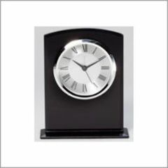 Black Glass Clock - Q414