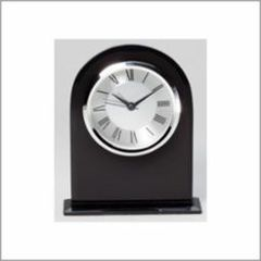 Black Glass Clock - Q415