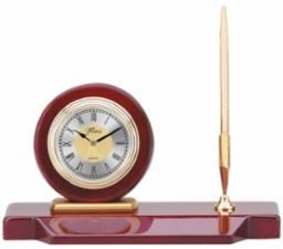 Rosewood Clock and Pen Set - Q064