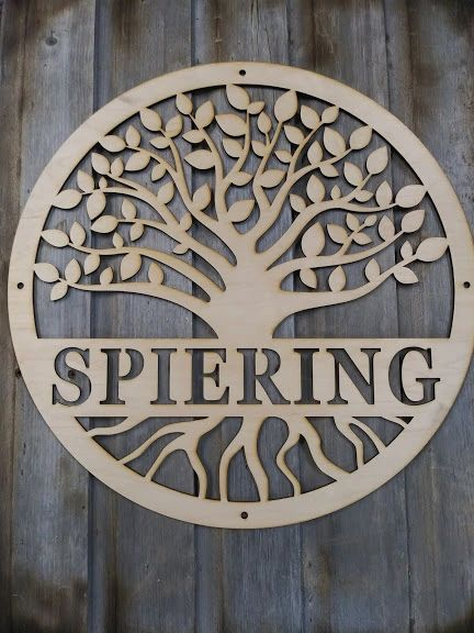 CUSTOM WILD WOOD SIGN - CIRCLE