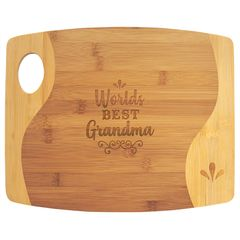 Bamboo Two-Tone Cutting Board with Wave - GFT891