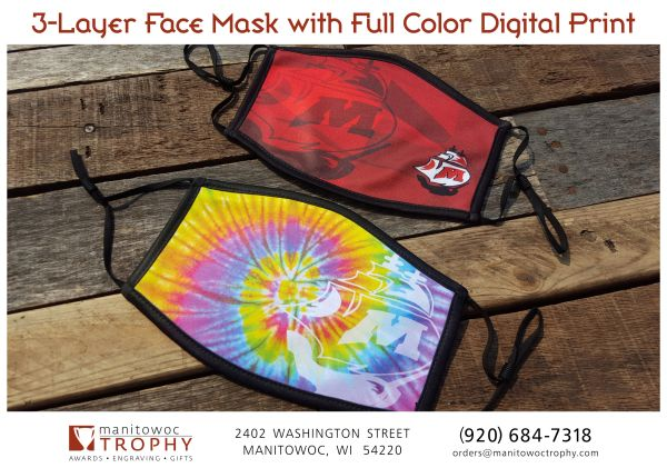 3-Layer Face Mask with Full Color Digital Print.