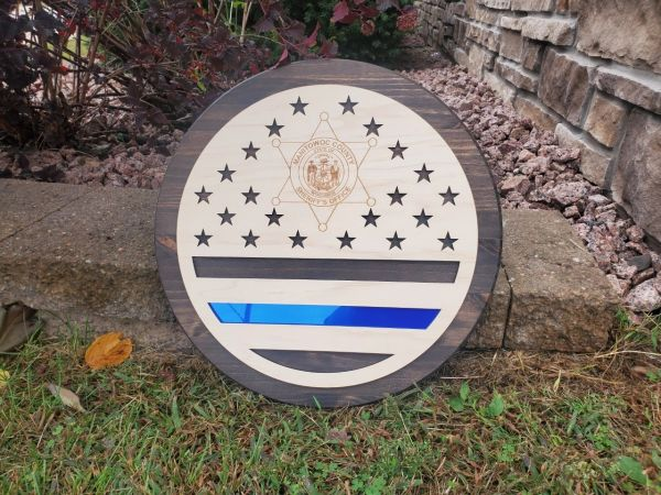 Police Department Wood Sign