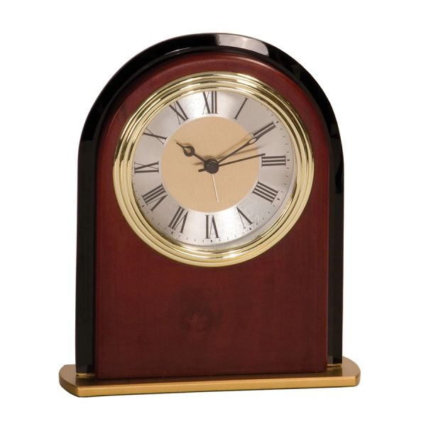 BLACK/ROSEWOOD CLOCK - MF001