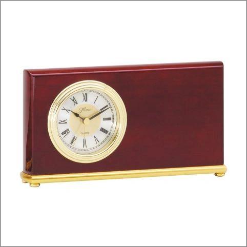 ROSEWOOD HORIZONTAL CLOCK - Q061