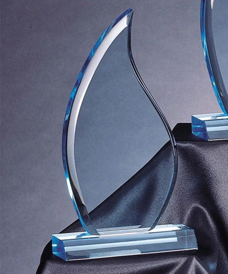 CP35S-BL - FLAME LUCITE ACRYLIC AWARDS