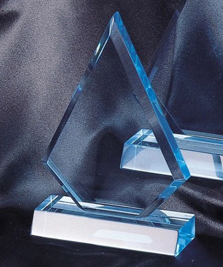 CP26S-BL - TRIANGLE LUCITE ACRYLIC AWARDS