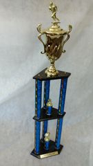 3 PILLAR TROPHY - DUAL LEVEL- ANIMAL SERIES (STORE PICK-UP ONLY)
