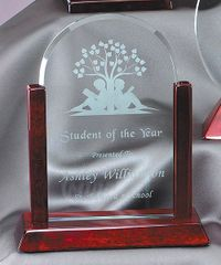 GL31 - ROSEWOOD GLASS ARCH - GLASS AWARDS