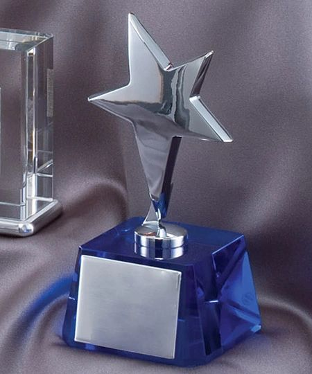 CRY784 - STAR BLUE CRYSTAL - CRYSTAL AWARDS