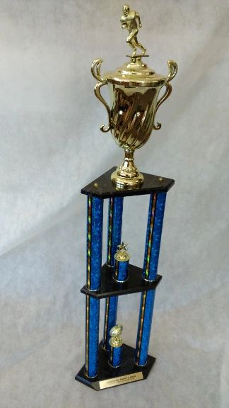 3 PILLAR TROPHY - DUAL LEVEL - SPORTS SERIES (STORE PICK-UP ONLY)