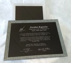 PLX14A-BK - STONE TRIPLE EDGE PLAQUE