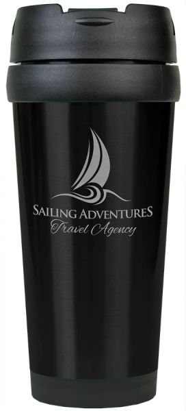 STAINLESS STEEL TRAVEL MUG WITHOUT HANDLE