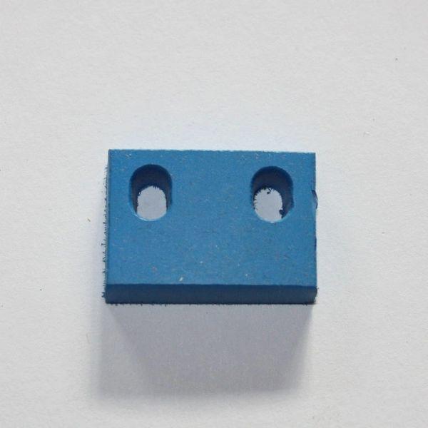 """626-5057-01 Rubber Bumper Blue 3/4"""" x 1-1/16"""""""