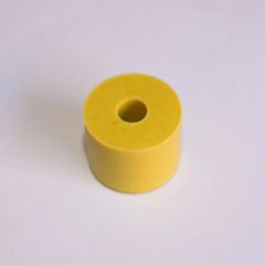 "23-6551 3/4"" x 5/8"" Yellow Rubber Bumper"