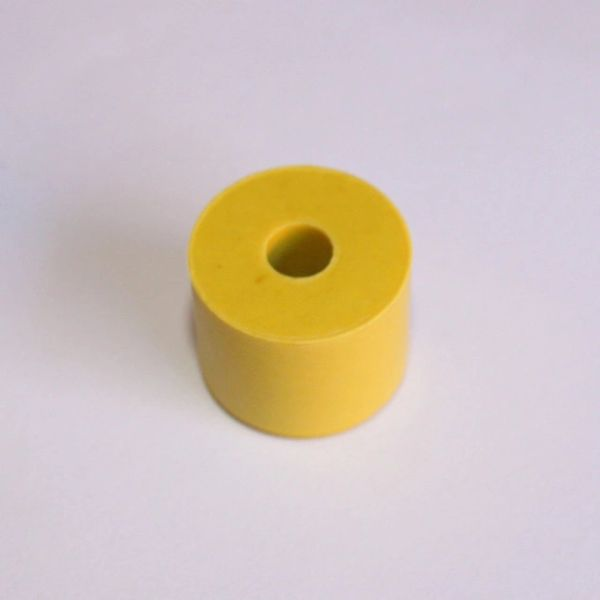 "23-6551 3/4"" x 5/8"" Yellow Rubber Bumper"
