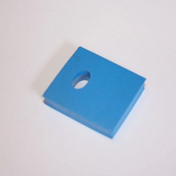 """626-5057-00 Rubber Bumper Blue 1"""" x 1-1/8"""""""
