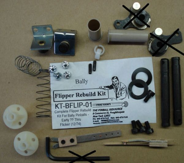 Flipper Rebuild Mini Kit Bally ?-12/74 BFLIP01M