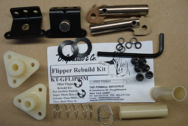 Flipper Rebuild Mini Kit GTB - SMB 06/92 - End GFLIP05M
