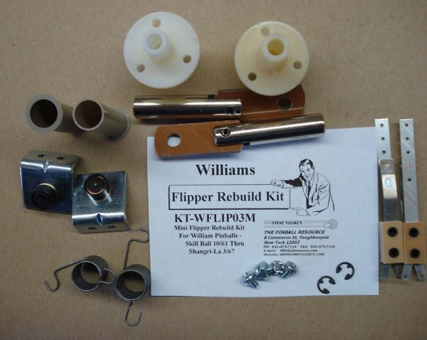 Flipper Rebuild Mini Kit Williams Skill Ball 10/61 - Shangri-La 3/67 WFLIP03M