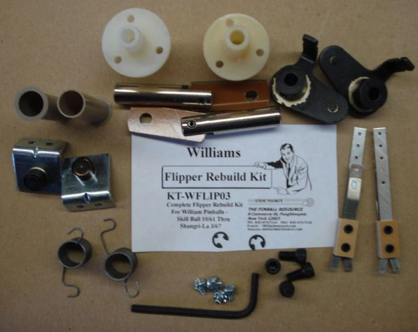 Flipper Rebuild Kit Williams Skill Ball 10/61 - Shangri-La 3/67 WFLIP03i