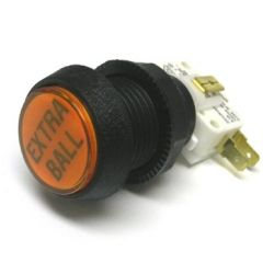 20-9663-18 Extra Ball Pushbutton - Orange
