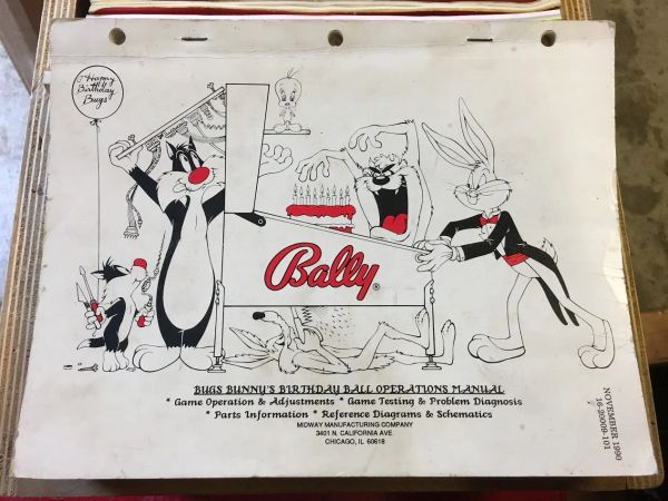 Bugs Bunny Birthday Ball Operations Manual - Original Used
