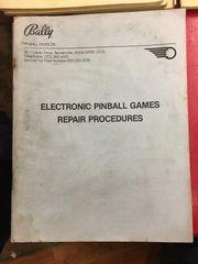 Bally Electronics Repair Procedures Manual - Original Used