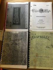 Twilight Zone, Fish Tales, Funhouse, Black Rose - manual copies