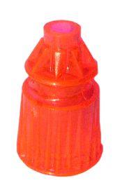 "550-5034-10 Fluorescent Orange Translucent Star Post 1-1/16"" Tall"